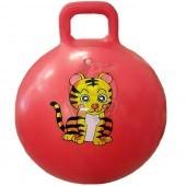 Мяч-попрыгун детский c ручкой Libera 55 см (красный)