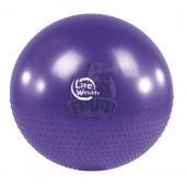 Мяч гимнастический массажный (фитбол) Lite Weights 75 см с системой антивзрыв + насос