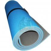 Коврик двухслойный Экофлекс 15 мм (голубой/серый)