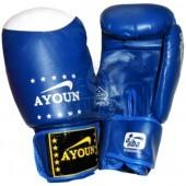 Перчатки боксерские Ayoun ПВХ (синий)