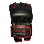Перчатки для смешанных единоборств Ayoun кожа (черные)