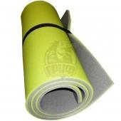 Коврик двухслойный Экофлекс 15 мм (салатовый/серый)