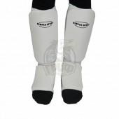 Защита голени и стопы для единоборств Vimpex Sport (белый)