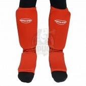 Защита голени и стопы для единоборств Vimpex Sport (красный)