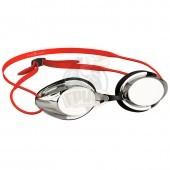 Очки для плавания стартовые Mad Wave Streamline Mirror (красный)