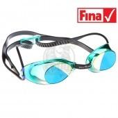 Очки для плавания стартовые Mad Wave Liquid Racing Mirror (зеленый)