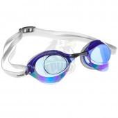 Очки для плавания стартовые Mad Wave Turbo Racer II Rainbow (синий)