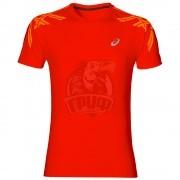Футболка спортивная мужская Asics Stripe Ss Top (красный)