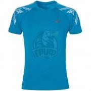 Футболка спортивная мужская Asics Stripe Ss Top (синий)