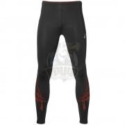 Тайтсы спортивные мужские Asics Stripe Tight (черный/коричневый)