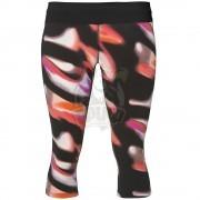 Тайтсы спортивные женские Asics Fuzex Knee 3/4 Tight (черный/розовый)
