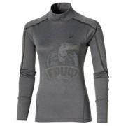 Джемпер спортивный женский Asics Lite-Show Ls Neck Top (темно-серый)