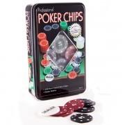 Набор для игры в покер в коробке на 100 фишек