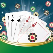 Набор для игры в покер в коробке на 120 фишек