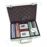 Набор для игры в покер в кейсе на 200 фишек