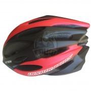 Велошлем Senhai (черный/красный)