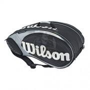 Чехол-сумка Wilson Tour BLX на 9 ракеток (серебро)