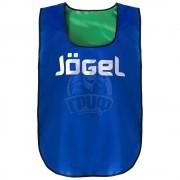 Манишка двухсторонняя детская Jogel (синий/зеленый)