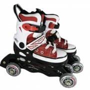 Роликовые коньки раздвижные Vimpex Sport (бордовый)