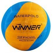 Мяч для водного поло тренировочный Winner №4 (голубой/желтый)
