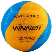 Мяч для водного поло тренировочный Winner №5 (голубой/желтый)