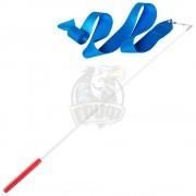 Лента гимнастическая Amely 6 м (голубой)