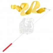 Лента гимнастическая Amely 6 м (желтый)