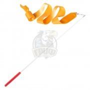 Лента гимнастическая Amely 6 м (оранжевый)