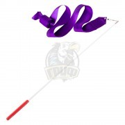 Лента гимнастическая Amely 6 м (фиолетовый)