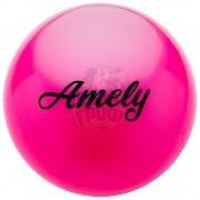 Мяч для художественной гимнастики Amely 150 мм (розовый)