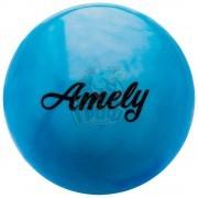 Мяч для художественной гимнастики Amely 150 мм (синий/белый)