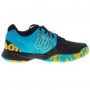 Кроссовки теннисные мужские Wilson KAOS Devo (синий/черный)