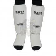Защита голени и стопы киокушинкай Vimpex Sport (белый)
