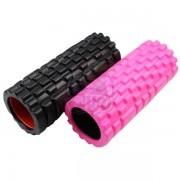 Ролик для йоги массажный Artbell 33х14 см (черный)