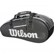 Сумка теннисная Wilson Super Tour 2 Comp Small (черный/серый)