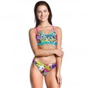 Плавки купальные спортивные женские Mad Wave Frisky Bottom (разноцветный)