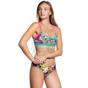 Топ купальный спортивный женский Mad Wave Frisky Top (разноцветный)