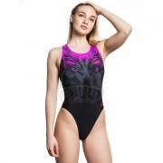 Купальник спортивный женский Mad Wave Vision (черный/розовый)
