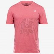 Футболка спортивная мужская Wilson V-Neck Tee Men (розовый)