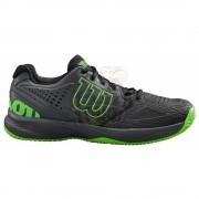 Кроссовки теннисные мужские Wilson Kaos Comp 2.0 (черный/зеленый)