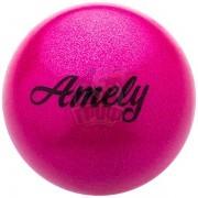 Мяч для художественной гимнастики с насыщенными блестками Amely 190 мм (розовый)
