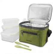 Сумка-холодильник Арктика с контейнерами (зеленый)
