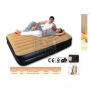 Кровать для сна надувная двуспальная + электронасос Jilong