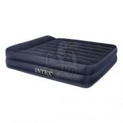 Матрас-кровать надувная полутораспальная + электронасос Intex Queen