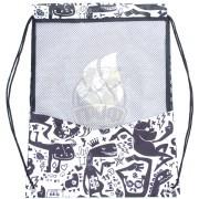 Рюкзак-мешок Mad Wave Dry Gym Bag (черный/белый)