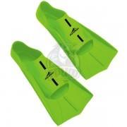 Ласты тренировочные укороченные AquaFeel (зеленый)