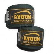 Бинт боксерский Ayoun 4,0 м (черный)
