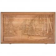 Нарды деревянные большие резные ''Лесная заимка''