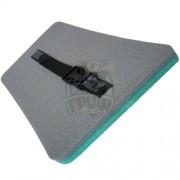 Сиденье туристическое двухслойное Экофлекс 20 мм (бирюзовый/серый)