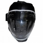 Шлем для единоборств с защитной маской Ayoun ПУ (черный)